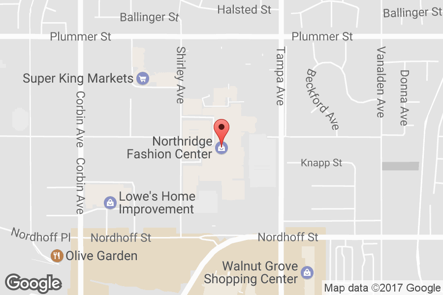 Map of Northridge Fashion Center - Click to view in Google Maps